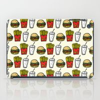 junk food iPad Cases featuring Junk Food Pattern by mebz art
