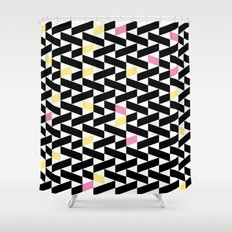 Black Pattern  Shower Curtain