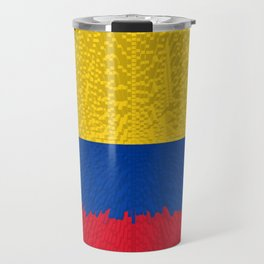 Extruded flag of Columbia Travel Mug