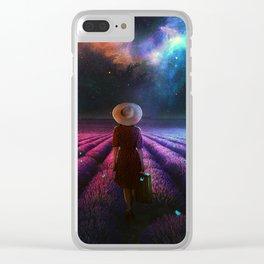 Lavender Dreams Clear iPhone Case