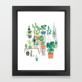 Potted Jungles Framed Art Print