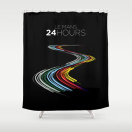Racing Lines - Le Mans 24 Hours Shower Curtain