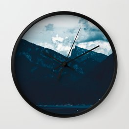 Mountain View by the Lake #1 #art #society6 Wall Clock