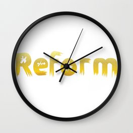Reformed Letter Form Wall Clock