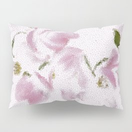 Dogwood Tree Flowers (stained glass-pink) Pillow Sham