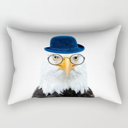 Funny Eagle Portrait Rectangular Pillow