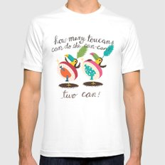 toucan-can White MEDIUM Mens Fitted Tee
