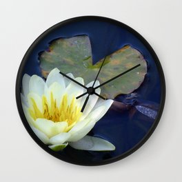 Water Lilly 2 Wall Clock