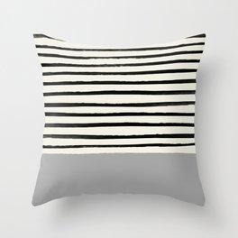 Storm Grey x Stripes Throw Pillow