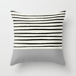 Storm Grey x Stripes Throw Pillow