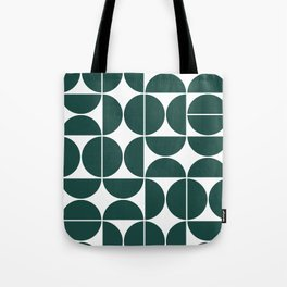 Mid Century Modern Geometric 04 Dark Green Tote Bag