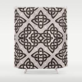 Kaleidoscope Celtic Knot Pattern Print Shower Curtain