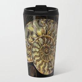 Ammonite Trilobite Fibonacci Spiral Travel Mug