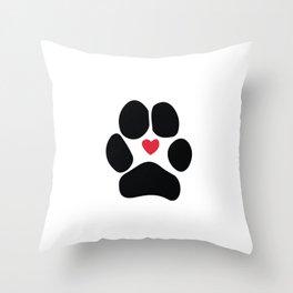 Dog Paw Throw Pillow