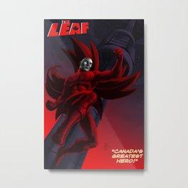 The Leaf Tee-shirt Metal Print