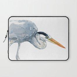 Great Blue Heron Watercolor Study Laptop Sleeve