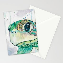 Watercolor Sea Turtle Painting Sea Animals Beach Inspired Wall Art Ocean Artwork Seaside Decor Stationery Cards