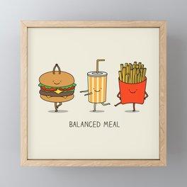 Balanced meal Framed Mini Art Print