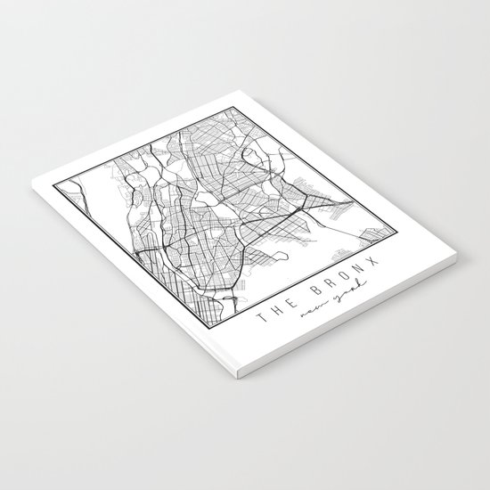 The Bronx New York Street Map by typologiepaperco
