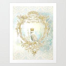 Owl Let it Snow Art Print