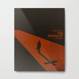 The Exorcist Inspired Vintage Movie Poster Metal Print