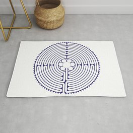 Cathedral of Our Lady of Chartres Labyrinth - Blue Rug