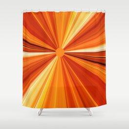 Bright Orange Sun Glare Shower Curtain