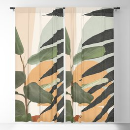 Sunset Flora 03 Blackout Curtain