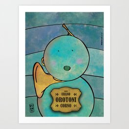 Orotoni from Uranus (Corn) Art Print