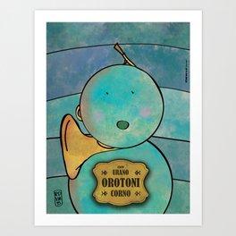 Orotoni from Uranus (Corn) Art Print