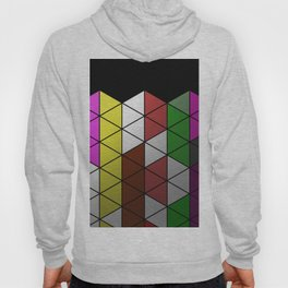 Foil Triangles - Colourful, metallic, geometric pattern Hoody