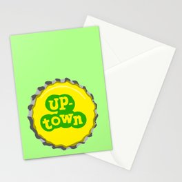 Up-town bottle cap lefty Stationery Cards