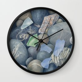 Sea Glass IV Wall Clock