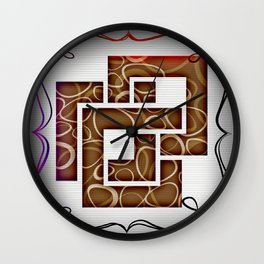 Arithmetic Squares Wall Clock