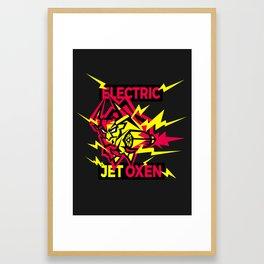 Electric Jet Oxen Framed Art Print