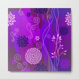 Boho Floral Pattern Var. 3 Metal Print