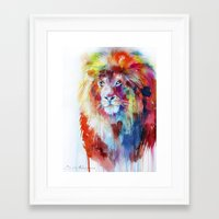 lion Framed Art Prints featuring Lion by Slaveika Aladjova