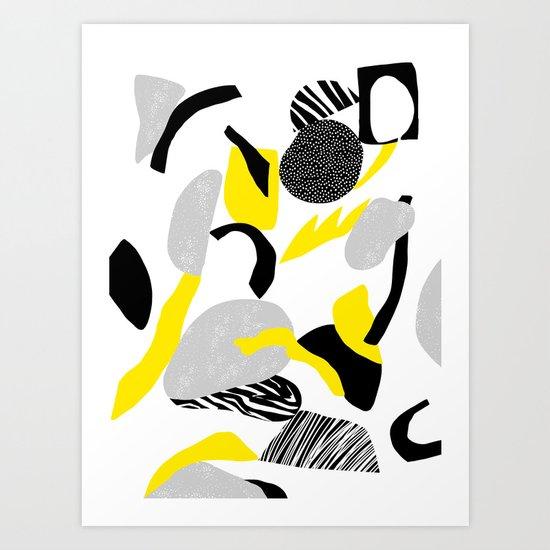 rocks falling  Art Print