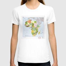 Map of Africa (1989) T-shirt