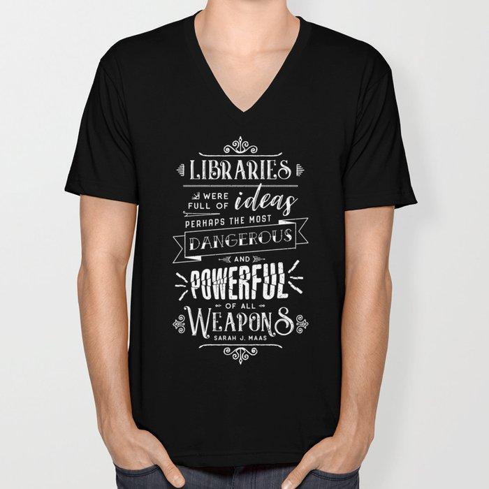Libraries Unisex V-Neck