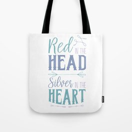 Red in the Head Tote Bag