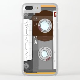 The cassette tape Robot Clear iPhone Case