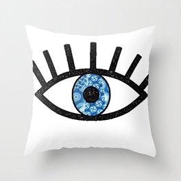 Greek Evil Eye Throw Pillow