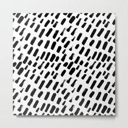 Brush Marks Metal Print