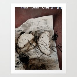 CUTTED DAILY Art Print