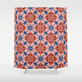 Folk Pattern Shower Curtain