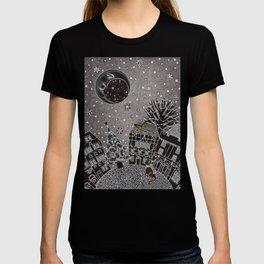 'Twas a Moonlit Winter Night T-shirt