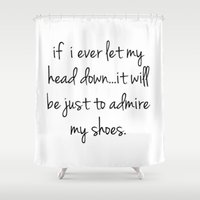shoes Shower Curtains featuring Shoes by I Love Decor