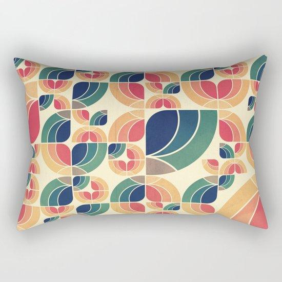 Vintage Garden Pattern v.3 Rectangular Pillow