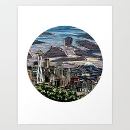 Seattle in the Spring Art Print